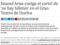 """""""EL CORONEL..."""" llena el Gran Teatro de Huelva"""